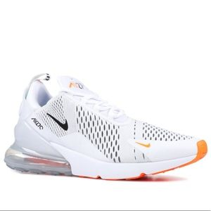 Nike Air Max 270 White and Orange Size 12